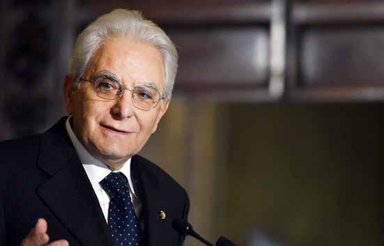 Il Presidente della Repubblica Italiana, Sergio Mattarella