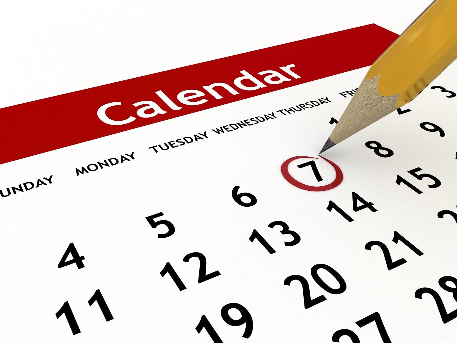 Calendario delle TUE Attività
