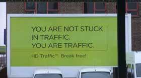 figura 1 - Tu non sei bloccato nel traffico. Tu SEI il traffico!